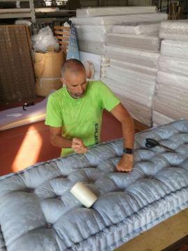 Impuntura materasso lana